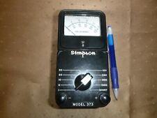 Vintage Simpson Electric Co Model 373 Dc Milliampmeter Case Amp Brochure