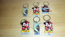 Disney Characters Named Key Chains, set of 6