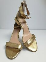 Tony Bianco Gold Coloured Heels With Gold Metal Ankle Strap Size 9