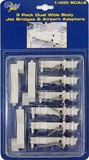 GEMINI Jets gjarbrdg 2 1/400 3 x DUAL Wide Body Jet Air PONTI & Adattatore AEROPORTO