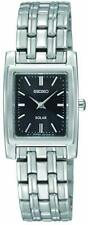 Seiko Women's SUP061 Quartz Stainless Steel Black Dial Watch