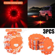3Pcs LED Wagan Road Flare Emergency Flash Beacon Roadside Fred Light Marine Camp
