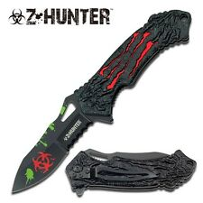 Z-Hunter Blood Red MONSTER CLAWS Spring Assisted BIOHAZARD Folding Knife