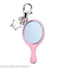 Tingle specchio argento Sterling Charm a Clip con Sacchetto e Scatola Regalo SCH136
