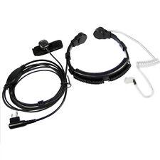 For Motorola CP125 CP140 CP150 CP200 CP180 CP185 GP300 Throat Mic Headset 2 Pin