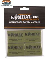 Kombat Waterproof Matches (4PK) Hiking Bushcraft Prepper Camping - FREE DELIVERY