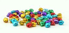 1/4 Inch 6mm Multicolored Aluminum Mini Jingle Bells Charms 100 Pieces