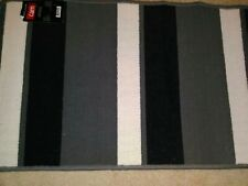 (2) STRIPED ACCENT RUG / FLOOR MAT*  *GRAPHIC LOOP, NON-SKID BACK! * (BRAND NEW)