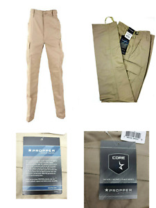Propper BDU Trouser Khaki Button Fly 65 Cotton 35Poly Tactical Military Public