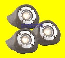 SET LAPIS 3 x LED Unterwasserleuchten Teichstrahler für Teich Bachlauf 230V/12V