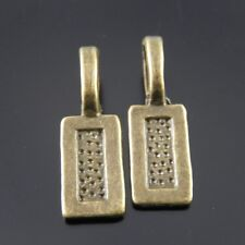 40 pcs Antiqued Bronze Rectangle Glue On Bails Earring Pendant Jewellery Making