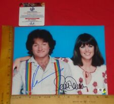 "REAL- Robin Williams & Pam Dawber Signed 8""X10"" Color Photo Global /GA/GAI/GV"