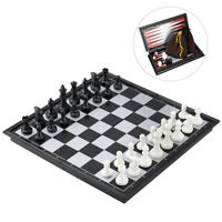 Magnetic Chess Checkers Backgammon Set Folding Travel Chess Board Classic Toys