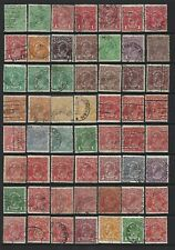 Australia. George V portrait type collection of 107 stamps, 1914 to 1936, Used.