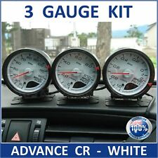 3 x Defi CR Style Link ADVANCE Gauges White Face 60mm Blue/Red 2019 C2 ZD Boost