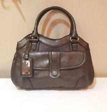 Relic Brand Collection by Fossil Metallic Pewter Faux Leather Shoulder Bag