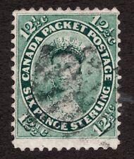 Sc #18 - Canada - 1859 17½c Queen Victoria - Used F+   superfleas - est$150