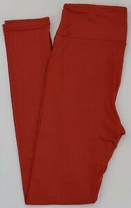 OS LuLaRoe One Size Leggings Solid Brick Red NWT 71