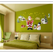 Removable Xmas Tree Santa Claus Wall Window Vinyl Decal Stickers Christmas Decor