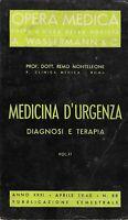 Medicina d'urgenza diagnosi e terapia Vol.II monteleone opera medica wassermann