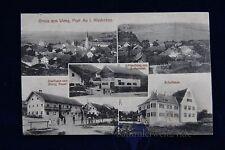 alte AK Gruss aus Weng Post Au i. Niederbay. Gasthaus Handlung Schulhaus 1915