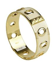 Coach 3/4 Inch Bangle Grommet Enamel / Gold Plated Brass 96353 Bracelet