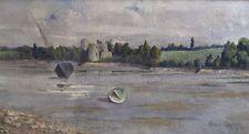 Gilbert GAUTIER.XXe.ST-CAST,château Gilles de Bretagne.1919.Aquarelle.SBD.15x27