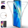 Samsung Galaxy S10 S9 S8 Plus Full Protective Clear Silicone Case 360° TPU Cover