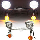 Pre-Drilled Amber Driving Passing Turn Signal Spot Light Bar for Yamaha Cruiser