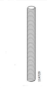 1 IKEA Threaded Pin Replacement Part # 114729 Fits Applaro / Klasen Serving Cart