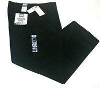 Men Dockers Signature Khaki Relaxed Fit Pleated (Black) Stretch Pants 98% Cotton