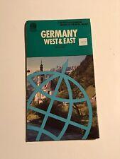 Germany West & East (World Travel Map) by Bartholomew Sheet map, folded Book