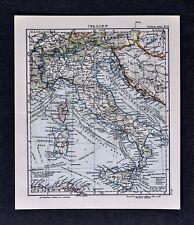 c1925 Taschen Atlas Map Italy Rome Venice Florence Naples Genoa Sicily Sardinia