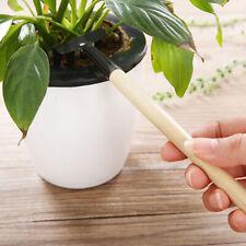 3 Stück Mini Gartenhandkelle Schaufel Spaten Graben Gartengerät mit Holzgriff