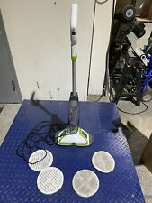BISSELL Spinwave Powered Hardwood Floor Cleaner Mop w Soft Touch Pads Green