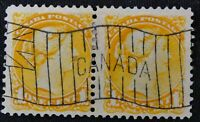 *Kengo* Canada Stamp #35 pair Small Queen VF with beautiful cancel @338