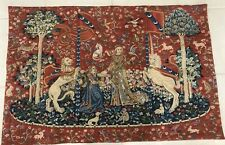 """Tapestry 40x27""""Wall Hanging Lady with the Unicorn Made In France"""