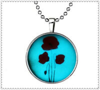 Fashion Punk Style Flowers Glow in the Dark Stainless Steel Necklace Pendant !