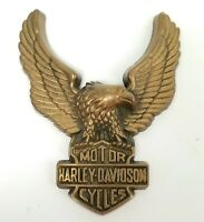 Vintage 1979 Harley Davidson Motorcycles Solid Brass Eagle Belt Buckle by B&B
