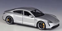 Welly 1:24 Porsche Taycan Turbo S Silver Diecast Model Sports Racing Car IN BOX