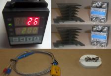 Pid Temperature Controller Kiln Probe 2x40a Ssr Relay Paragon Pottery Glass 220v