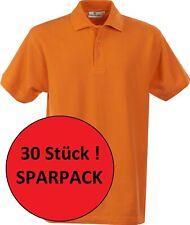 Sparpack 30x Polo Shirt Grösse Gr XL Baumwolle Orange Oranje Posten Abverkauf