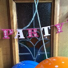 Pink Wooden Party Banner