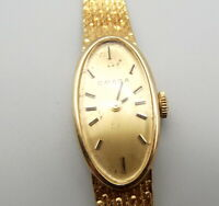 Vtg Omega 14K Gold Mechanical Ladies Watch 17 Jewels 485 Runs Great 1970s Manual