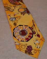 The Melting Pot Restaurant Yellow Polyester Fondue Theme Tie