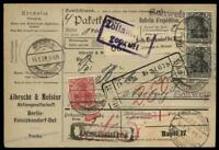 Germany 1920 DR Germania Wmk Cover Switzerland 96002
