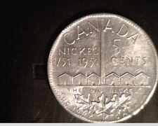 """1951 Canada, """"Big Nickel"""", 5 Cent Sudbury Nickel, High Grade Aluminium (Can-480)"""