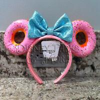 Disney Parks Foodie Minnie Mouse Glitter Bow Sprinkle Donut Ears Headband