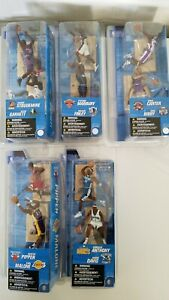 "NBA MCFARLANE 3"" FIGURE 2 FIGURES/PACK PIPPEN MALONE CARMELO CARTER BIBBY GARNET"