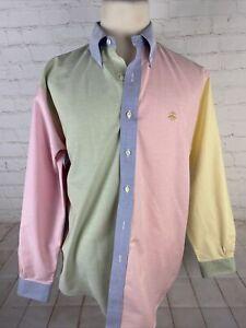 Brooks Brothers Men's Multicolor Solid Cotton Dress Shirt 16 30/31 $125